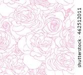 rose pink pattern. floral...   Shutterstock .eps vector #462512011
