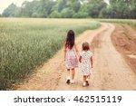children happy outdoors. | Shutterstock . vector #462515119