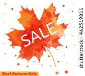 autumn sale flyer design with... | Shutterstock .eps vector #462519811