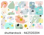 set of abstract backgrounds... | Shutterstock .eps vector #462520204