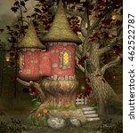 fairytale castle   3d...   Shutterstock . vector #462522787