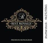 template wedding monogram.... | Shutterstock .eps vector #462525061