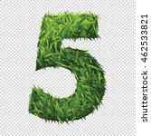 number five of green grass. a... | Shutterstock .eps vector #462533821