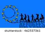 refugees are going on the road... | Shutterstock .eps vector #462537361