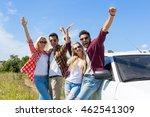 people group outdoor... | Shutterstock . vector #462541309