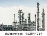 oil and gas refinery plant... | Shutterstock . vector #462544219