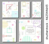 set of artistic colorful... | Shutterstock .eps vector #462544645