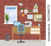 home room with workplace for... | Shutterstock .eps vector #462548275