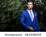 elegant handsome man in... | Shutterstock . vector #462548335
