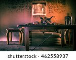 fire and smoke damaged... | Shutterstock . vector #462558937