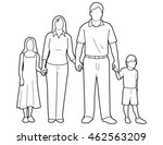 line art drawing of a generic... | Shutterstock .eps vector #462563209