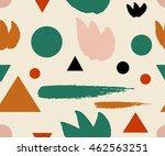 hand drawn memphis style... | Shutterstock .eps vector #462563251