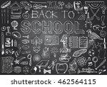 back to school big doodles set. ... | Shutterstock .eps vector #462564115