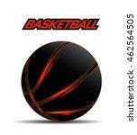 black basketball ball with... | Shutterstock .eps vector #462564505