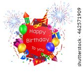 happy birthday holiday... | Shutterstock . vector #462571909