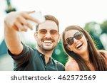 cropped shot of an affectionate ... | Shutterstock . vector #462572569
