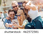 group of friends taking a... | Shutterstock . vector #462572581