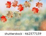 autumn landscape. beautiful ...   Shutterstock . vector #462577159