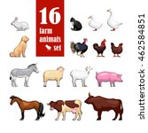 vector farm animals set for... | Shutterstock .eps vector #462584851