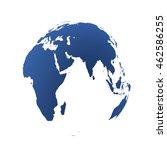 highly detailed earth globe ... | Shutterstock . vector #462586255