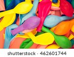 a lot of colorful flat balloons. | Shutterstock . vector #462601744