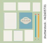 set of write papers  pencils... | Shutterstock .eps vector #462605731
