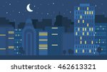 night city life concept. town... | Shutterstock .eps vector #462613321