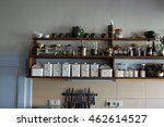 vintage kitchen with spice rack | Shutterstock . vector #462614527