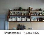 vintage kitchen with spice rack | Shutterstock . vector #462614527