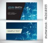 blue modern business card set   ...   Shutterstock .eps vector #462618355