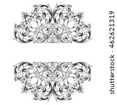 vintage baroque ornament. retro ... | Shutterstock .eps vector #462621319