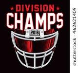 division champs football helmet ... | Shutterstock .eps vector #462621409