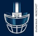 football helmet facemask with... | Shutterstock .eps vector #462621427