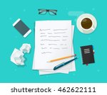 writer workplace illustration... | Shutterstock . vector #462622111