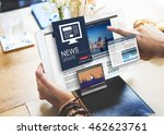 news update journalism headline ... | Shutterstock . vector #462623761