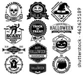 vector halloween labels  badges ... | Shutterstock .eps vector #462625189