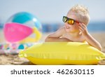 little kid holding an... | Shutterstock . vector #462630115