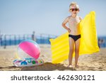 little kid holding an... | Shutterstock . vector #462630121