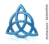 illustration of blue celtic... | Shutterstock . vector #462644944