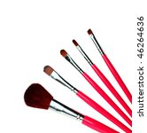 professional makeup brushes | Shutterstock . vector #46264636
