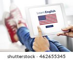 learn english language online... | Shutterstock . vector #462655345