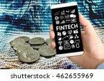 fintech investment financial... | Shutterstock . vector #462655969