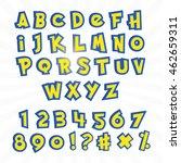 alphabet in pokemon cartoon... | Shutterstock .eps vector #462659311