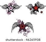 winged stars set in vector... | Shutterstock .eps vector #46265938