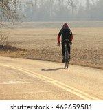 bicyclist riding along a...   Shutterstock . vector #462659581