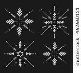 uncommon ethnic vector hand... | Shutterstock .eps vector #462660121
