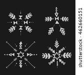 uncommon ethnic vector hand... | Shutterstock .eps vector #462660151