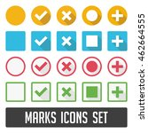 vector check mark icons. flat... | Shutterstock .eps vector #462664555