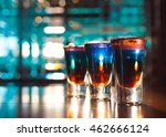 multicolored shots on the bar | Shutterstock . vector #462666124