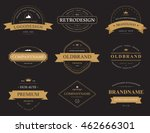 set of classic vintage or retro ... | Shutterstock .eps vector #462666301